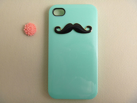 Cute IPhone 4 Case Unique Mustache 4s Custom Cover