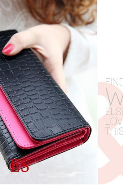 New Fashion Women Lady Purse Clutch Wallet Phone Handbag Bag Card Holder Gift